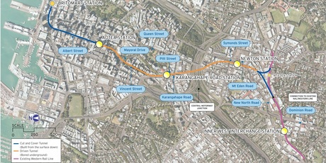 The proposed route. Image / supplied