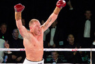 Shane Cameron celebrates after knocking out Monte Barrett. Photo /Greg Bowker