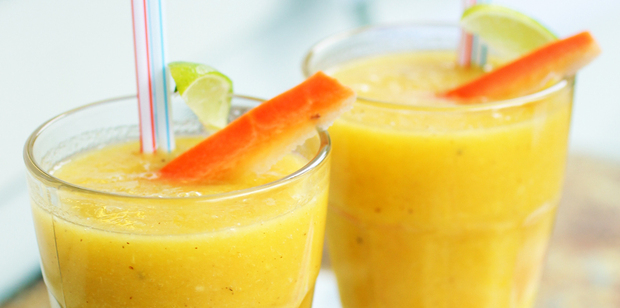A mix of fruit and veges in the smoothie gives a boost of energy. Photo / Doug Sherring