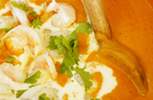Coconut cream swirled into vege soup adds a comforting, creamy touch. Photo / New Zealand Herald