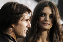 Tom Cruise wanted Katie Holmes to fly to Iceland on his birthday, according to reports. Photo / AP