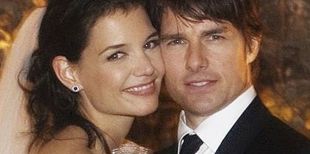 Katie Holmes and Tom Cruise in happier times. Photo / AP