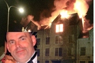 The Shore Porters Society was destroyed in a suspicious blaze. Malcolm Webster (inset). Photos / Evening Express / Supplied