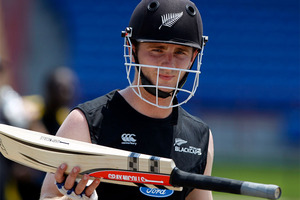 Kane Williamson hopes momentum has shifted in the series against the West Indies and is calling for more runs from his batting lineup to ensure that is the case. Photo / AP
