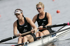 New Zealand women's pair of Kayla Pratt and Kelsey Bevan blitzing their race to qualify for the A final. Photo / File.