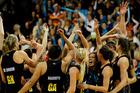 The Magic team celebrate after winning. Photo / Christine Cornege