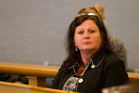 Carol Braithwaite, a director of National Finance, appeared at the High Court in Auckland today. Photo / Greg Bowker