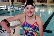 Nikita Howarth had a dream of going to the Paralympics as a cyclist but will instead compete in the pool in London.    Photo / Christine Cornege