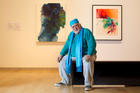 Artist Paul Tangata, with some of his work on display at the Auckland Art Gallery. Photo / Steven McNicholl