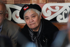 Tariana Turia wore a black beret with a tino rangatiratanga patch to the Waiwhetu Marae yesterday. Photo / Mark Mitchell
