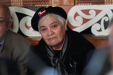 Tariana Turia wore a black beret with a tino rangatiratanga patch to the Waiwhetu Marae yesterday. Photo / Mark Mitchell