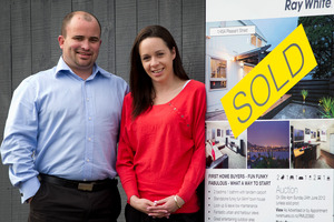 Cameron Brewer and Aleisha Kerr sold their Onehunga home but find buying another property very competitive. Photo / Sarah Ivey