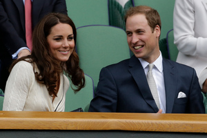 Britain's Prince William, right, and Kate, Duchess of Cambridge. Photo / AP