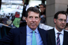 Former Barclays chief executive Bob Diamond, after giving evidence to the Treasury Select Committee. Photo / AP