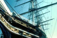 The Cutty Sark at Greenwich, beside the Thames. Photo / Supplied
