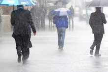 Rainfall is hitting hard in parts of New Zealand today. File photo / Richard Robinson 
