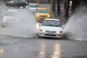 Heavy rain caused flash flooding in Auckland last week. Photo / Richard Robinson