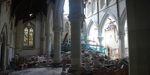 The damage to the Christchurch Cathedral from the devastating earthquake can be repaired, according to a new report. Photo / supplied