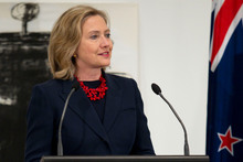 Hillary Clinton. Photo / Simon Baker