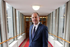 Labour leader David Shearer poses at Parliament in Wellington. Photo / Getty Images