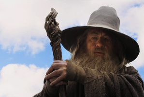 The new poster features Gandlaf, played by Ian McKellen, in front of a New Zealand landscape. Photo / Supplied