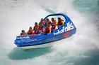 Drivers enjoying the thrill of the Huka Jet on the Waikato River. Photo / Kelvin Teixeira