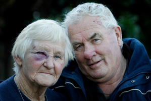 Margaret and Bob Gabolinscy say Tokoroa is a wonderful place despite the assault. Photo / APN.