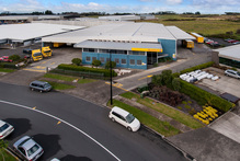 The office and warehouse property for sale at 93 Richard Pearse Drive at the Airport