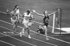 John Walker won the 1976 Olympic 1500m title in Montreal, finishing ahead of Ivo Van Damme (103).