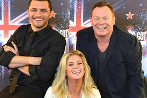 Ali Campbell, Jason Kerrison and Rachel Hunter. Photo / Otago Daily Times