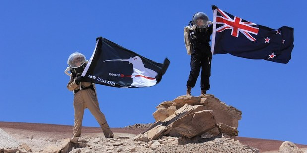 Engineer Ali Harley and commander Haritina Mogosanu were part of the six-person KiwiMars team's mission in the Utah desert. Photo / Supplied