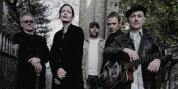 Elizabeth McGovern (who played Cora Crawley in Downton Abbey) pictured with her band Sadie and the Hotheads. Photo / Supplied