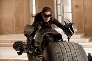 Anne Hathaway as Selina Kyle in The Dark Knight Rises. Photo / Supplied