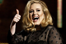 Adele is reportedly set to give birth in September. Photo / AP