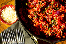 Beetroot risotto. Photo / Kellie Blizard