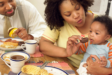 Parents set the agenda for a child's health and wellbeing. Thus our childhood obesity issue may be stemming from poor examples set by parents with unhealthy eating habits. Photo / Thinkstock