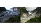 Franz Josef Glacier in 2008 (left) and 2012. Photo / Supplied
