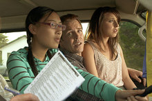 The car ride from hell: Another impossibly awkward scene from Hounds. Photo / Supplied