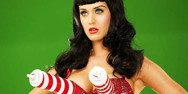 Katy Perry has been told to lose her trademark spinning bra over concerns about neck strain. Photo / Supplied