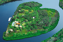 Sir Richard Branson's private Makepeace Island, off the coast of Noosa in Queensland, can be hired by groups of holidaymakers. Photo / Supplied