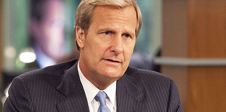 Jeff Daniels in Aaron Sorkin's new show The Newsroom. Photo / Supplied