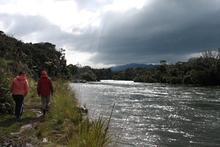 Wairaurahiri River is beautiful even under a brooding sky. Photo / Paul Rush