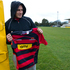 Sonny Bill holds the Canterury jersey after joing the team in 2010. Photo / Simon Baker