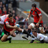 Sonny Bill makes an off-load during the Crusaders Super 15 match against the Sharks in London last year. Photo / Getty Images