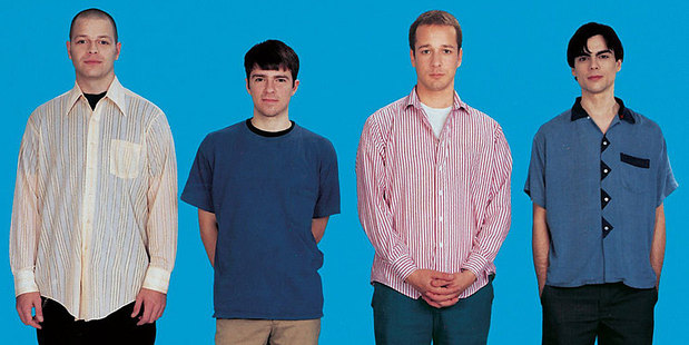 The cover of Weezer's 1994 self-titled record, dubbed The Blue Album. Photo / Supplied
