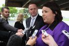 Social Development Minister Paula Bennett, with Prime Minister John Key. Photo / Getty Images