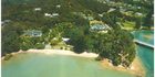 View: Bay of Islands lush beach hut