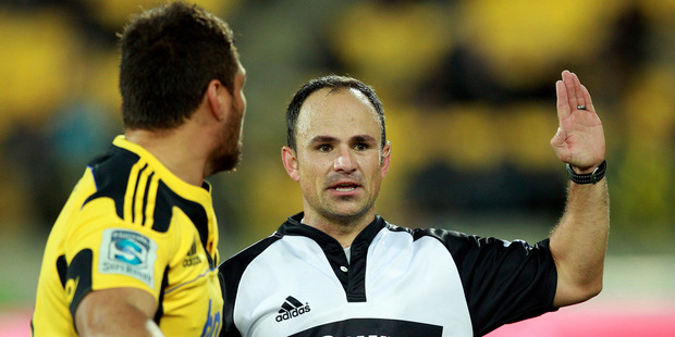 South African referee Jaco Peyper. Photo / Getty Images.