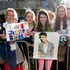 Teenage girls gathered outside the Langham Hotel in Auckland hoping to see Canadian pop star Justin Bieber. Photo / Greg Bowker