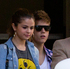 Justin Bieber with his girlfriend Selena Gomez as they leave the Langham Hotel from a secret exit. Photo / Greg Bowker